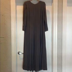 Vintage CHANEL Couture 60's Silk Maxi Grey Dress